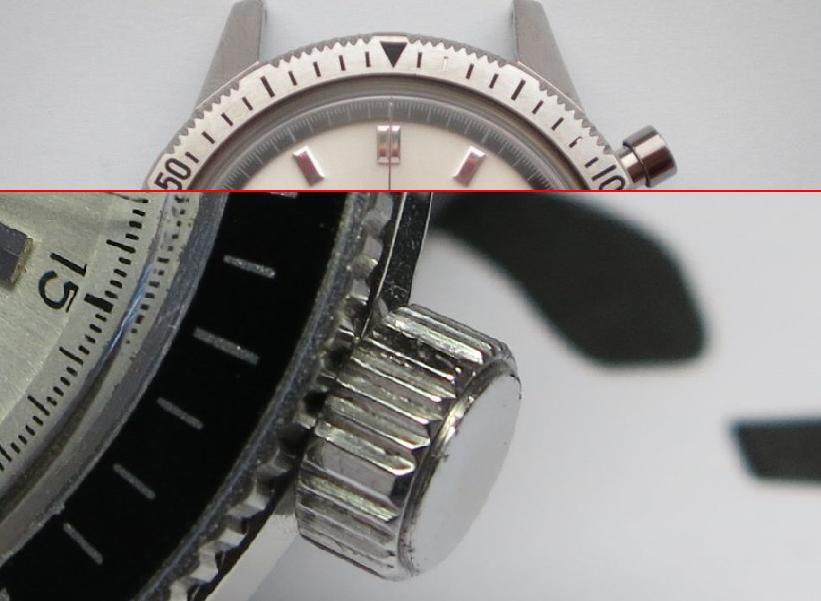 SEIKO Crown 5719 8992 - Crown design with flat segments