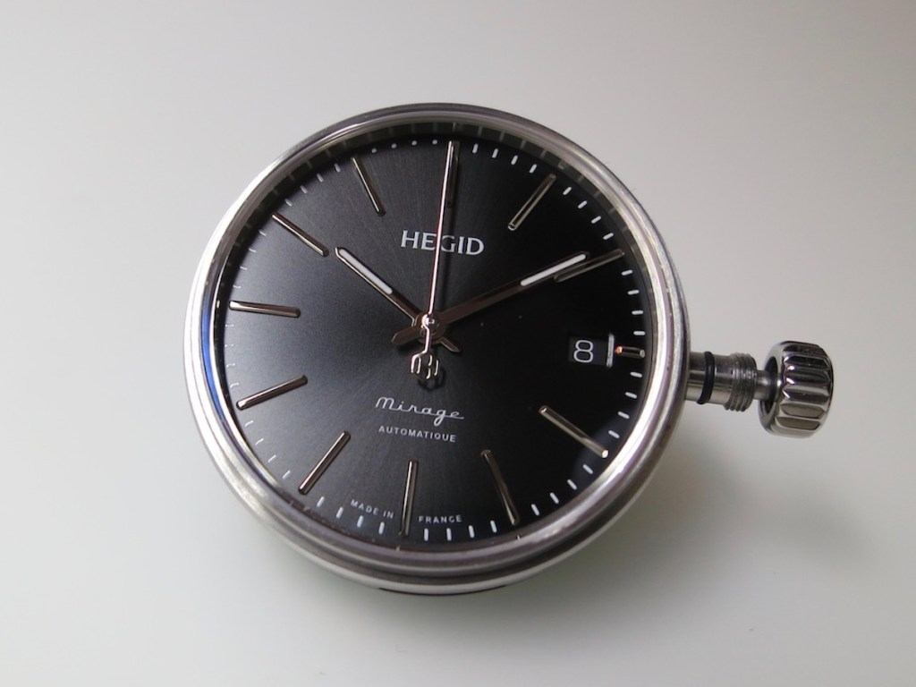 HEGID Mirage Capsule. Sunray satin brushed dial. Copyright Jerry