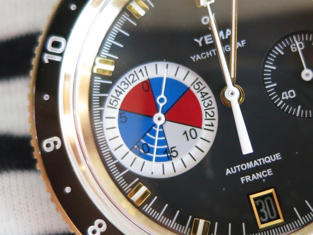 YEMA Yachtingraf Bronze patended countdown subdial