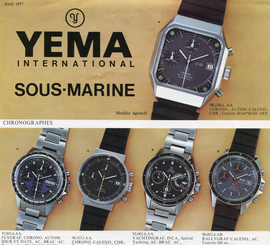 YEMA Yachtingraf advertising 1977