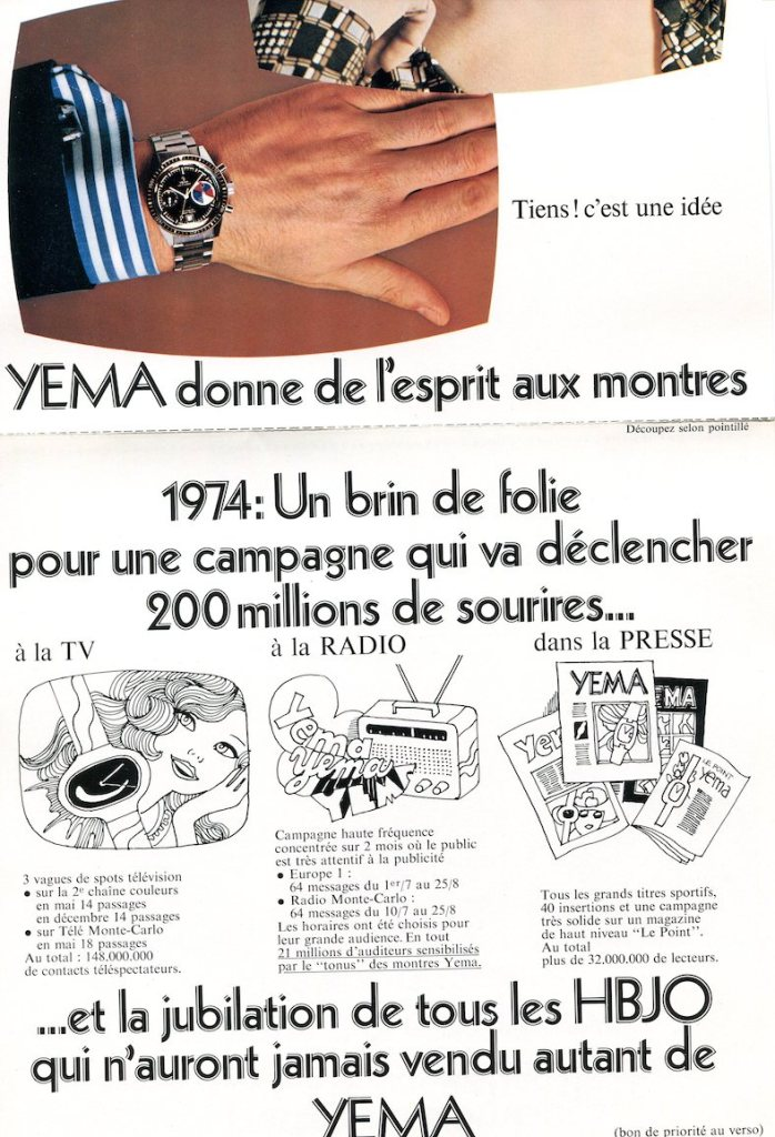 YEMA Yachtingraf advertising 1974