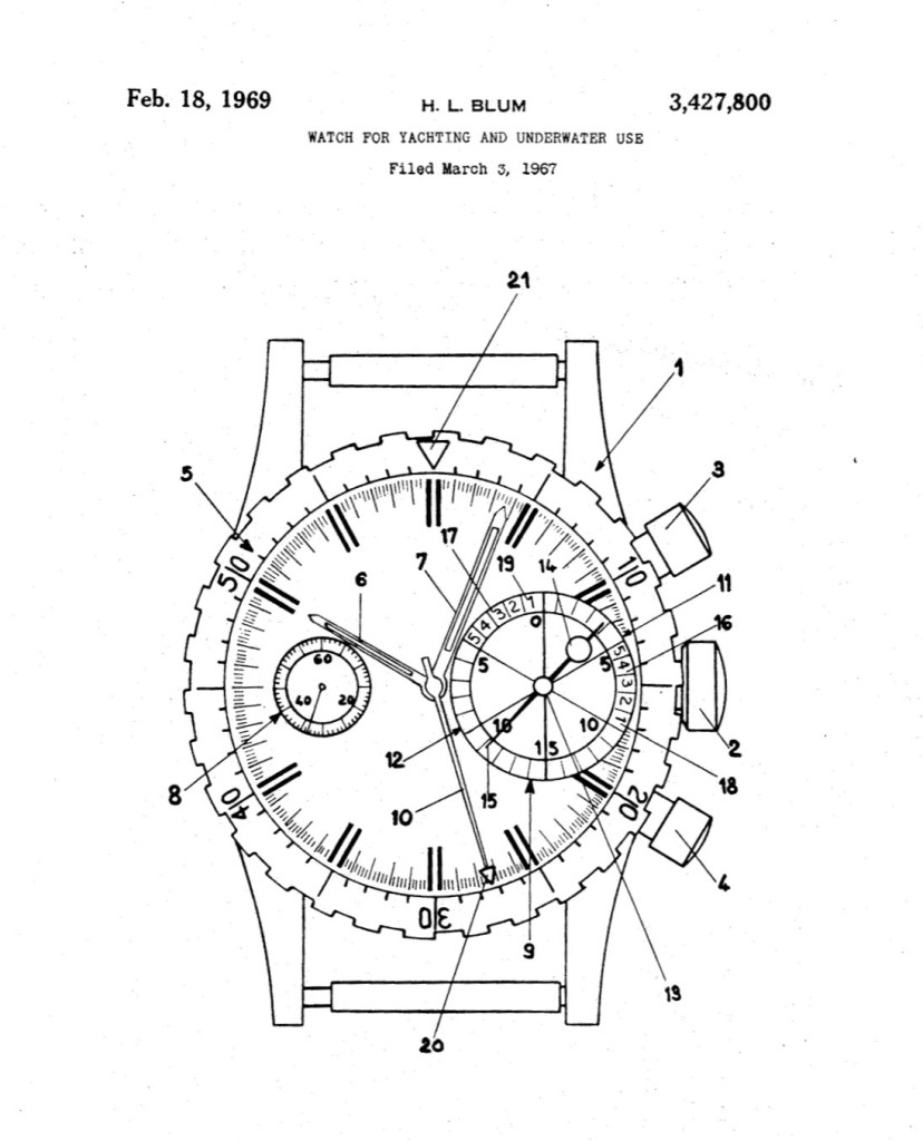 YEMA Yachtingraf | US patent 3,427,800. February 1967