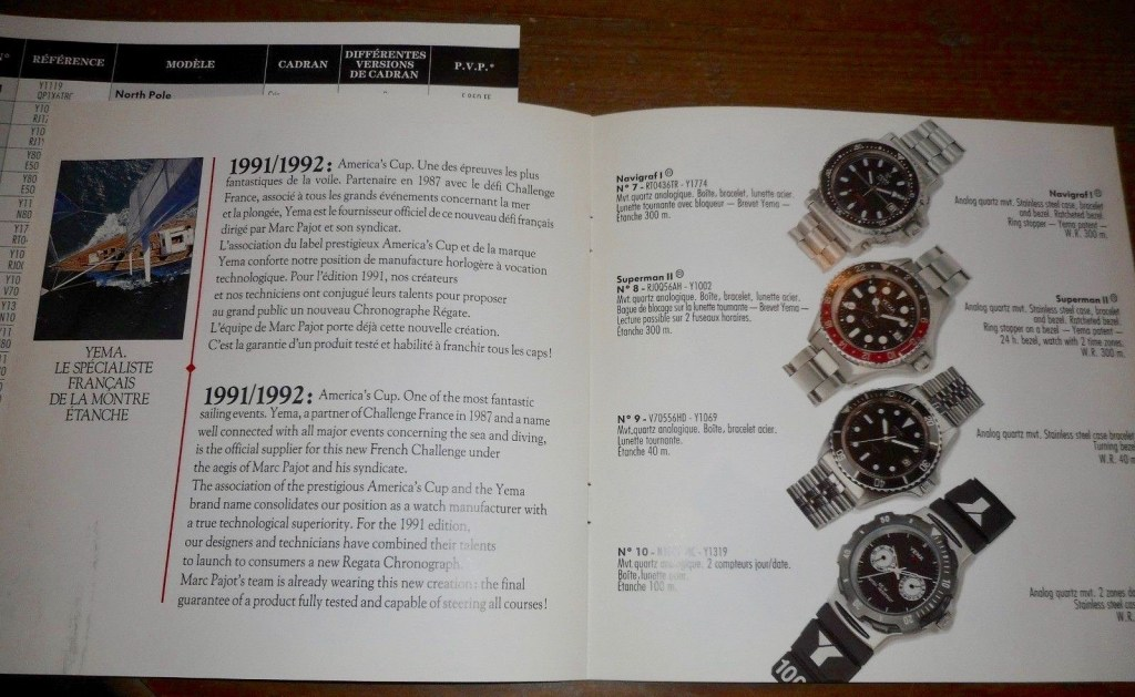 YEMA Advertising - 1991 Collection leaflet