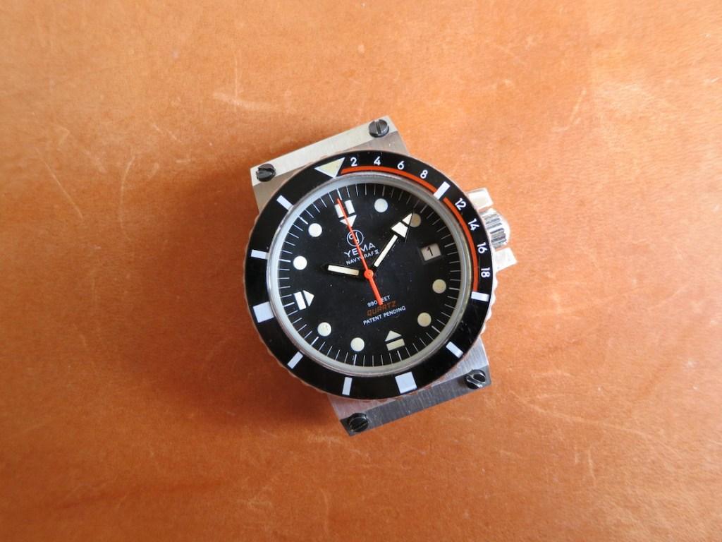YEMA Navygraf 961 122 | Black dial, circled logo, quartz ESA Y2 9362 - credit Jerry