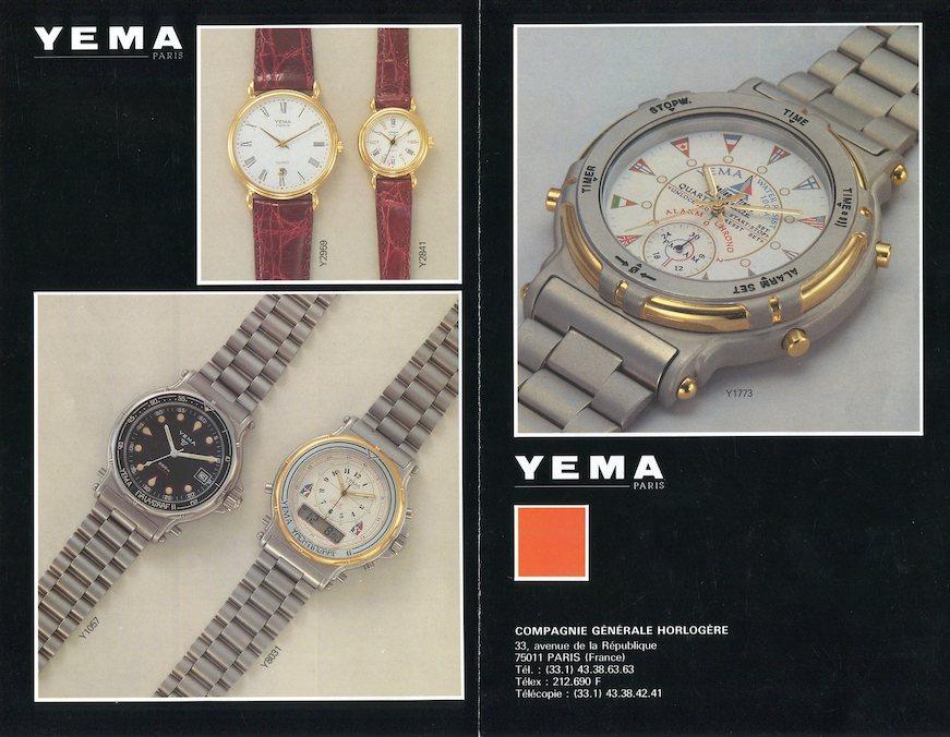 YEMA Advertising - C.G.H YEMA leaflet