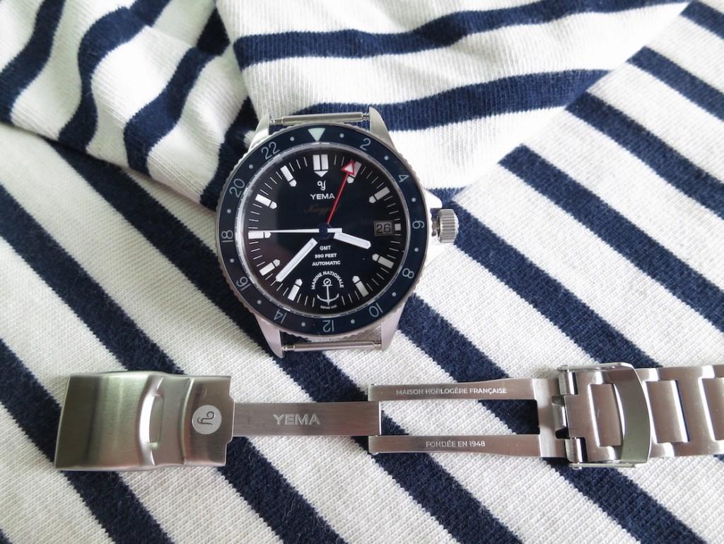 YEMA Navygraf Marine Nationale - Steel strap and buckle