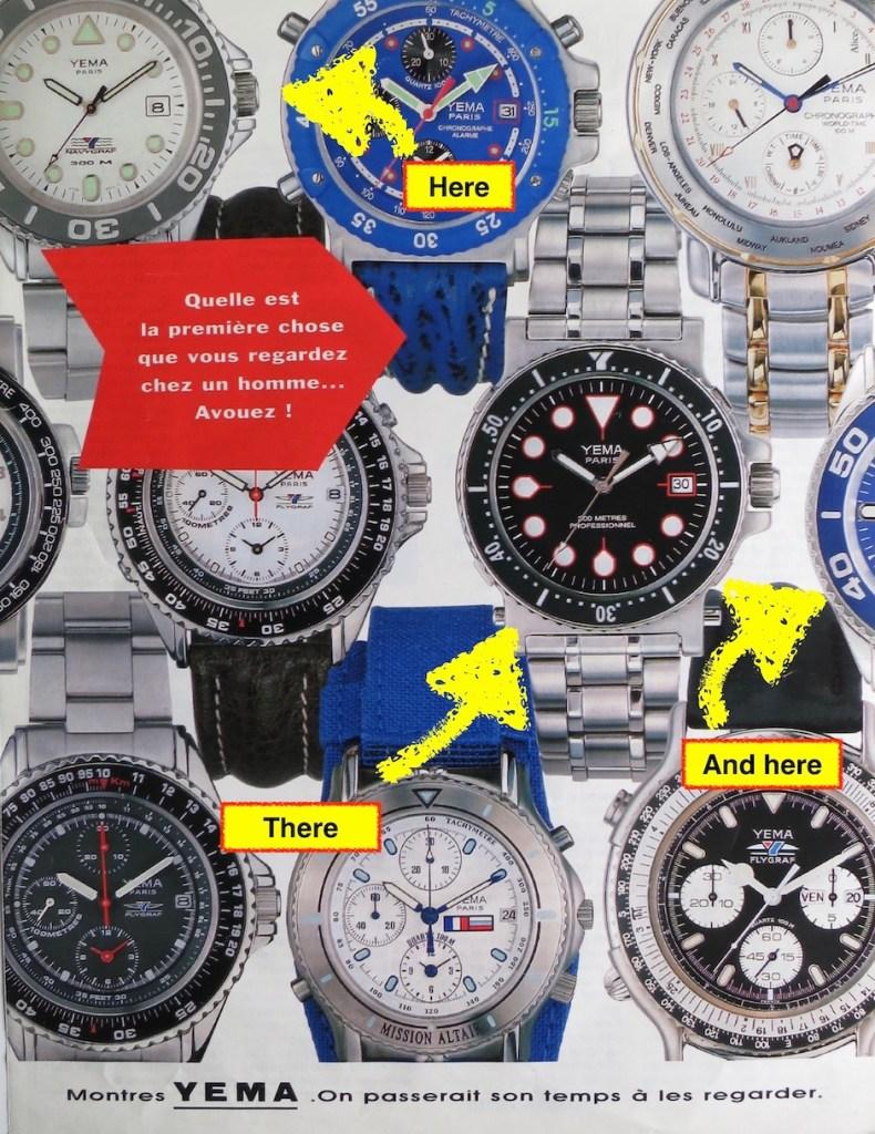 YEMA Advertising - YEMA Navygraf Scuba - Paris Match - 1994