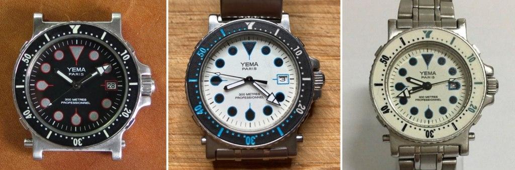 YEMA Navygraf Scuba collection - Clock me tender