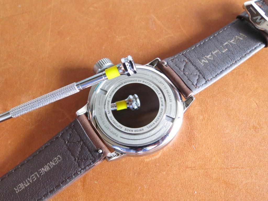 WALTHAM Field & Marine - Mirror polished caseback - creditJerry